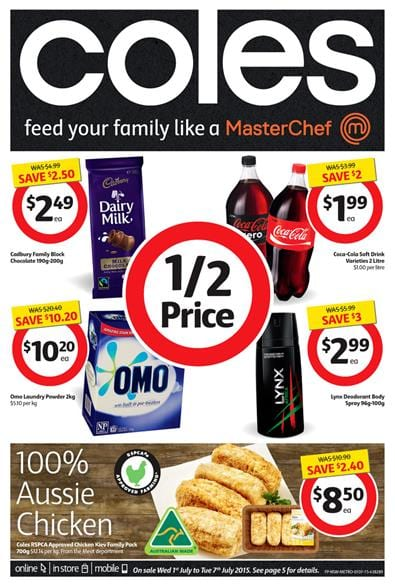 Coles Catalogue This Week 1 July 2015 07 July 2015
