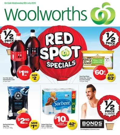 Woolworths Catalogue Online Specials 8 July - 14 July 2015