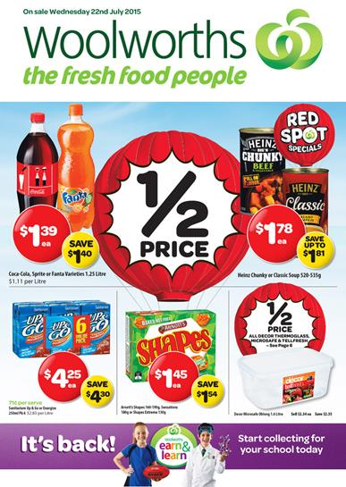 Woolworths Catalogue Specials 22 Jul - 28 Jul 2015