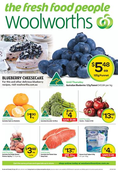 Woolworths Cheap Cheap Specials 5 July 2015