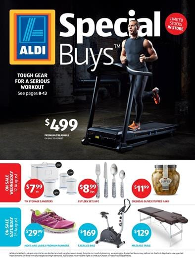ALDI Catalogue Special Buys Week 33 August Home and Active Wear