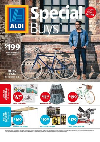 ALDI Catalogue Special Buys Week 34 Retro Bikes, Clothing and More