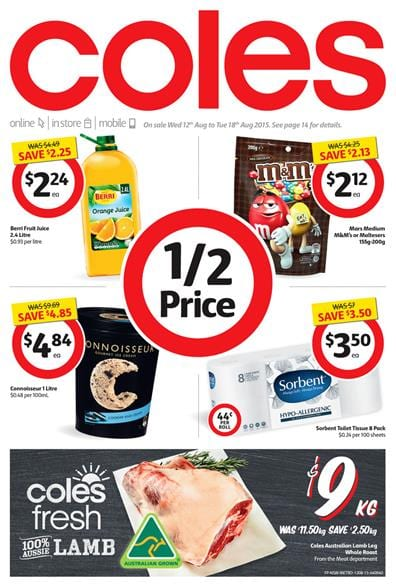 Coles supermarkets Catalogue Weekend Products