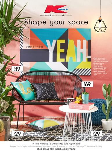 Kmart Catalogue Bedroom and Living Room 9 Aug
