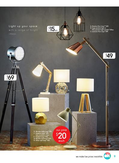 Kmart Catalogue Elegant Lamps August 2017