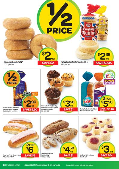 Last 2 Days Woolworths Specials 9 Aug 2015