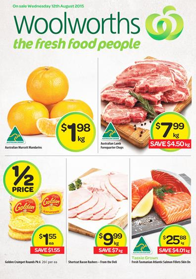 Woolworths Catalogue Specials 12 Aug - 18 Aug 2015