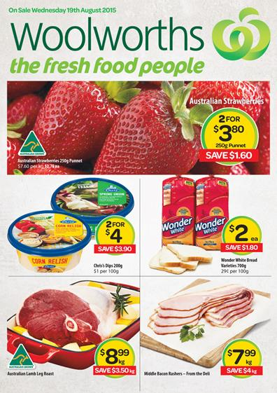 Woolworths Catalogue Specials 19 August 2015