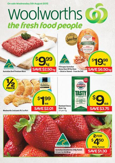 Woolworths Catalogue Specials 5 Aug - 8 Aug 2015