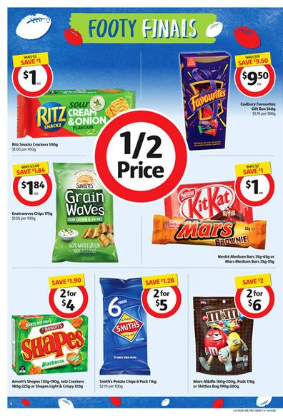 Coles Catalogue Footy Finals Snacks 10 Sep 2015
