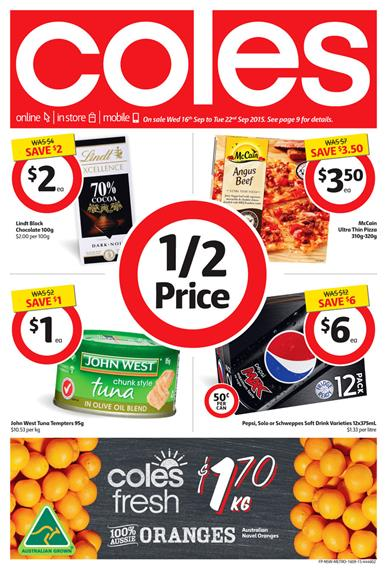 Coles Catalogue Products 16 Sep - 22 Sep 2015