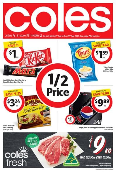 Coles Catalogue Products 21 Sep 2015