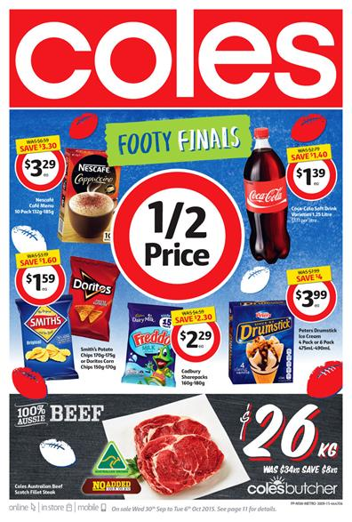 Coles Catalogue Products 30 Sep 2015