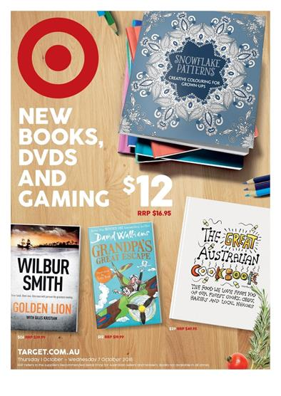 Target Catalogue Game and Book Sale 29 Sep 2015
