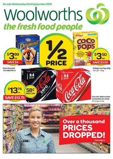 Woolworths Catalogue Specials 21 Sep 2015