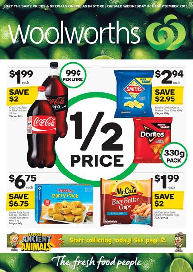 Woolworths Catalogue Specials 30 Sep 2015