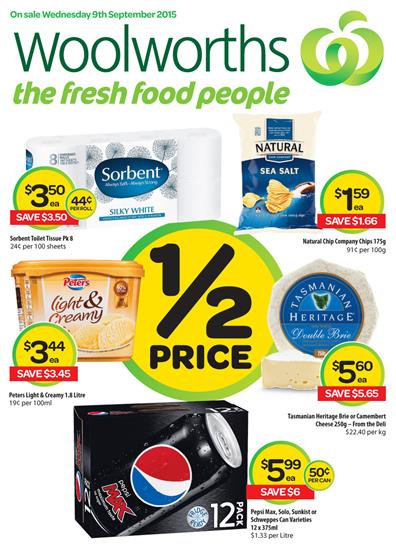 Woolworths Catalogue Specials 9 Sep 2015