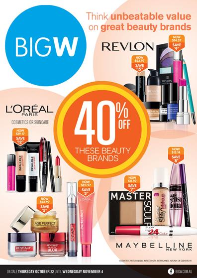 Big W Catalogue Beauty Products 22 Oct
