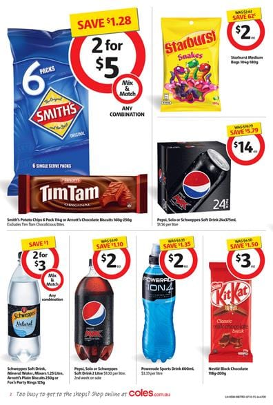 Coles Catalogue Candy Selection 9 Oct