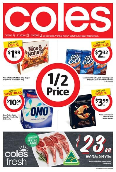 Coles Catalogue Products 7 October 2015