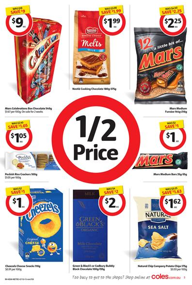 Coles Half Price Products 6 Oct 2015