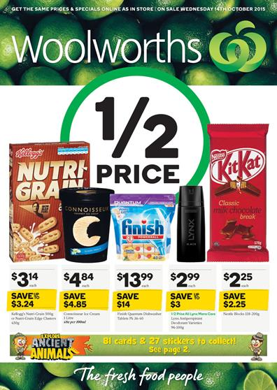 Woolworths Catalogue Special Buys 14 Oct 2015