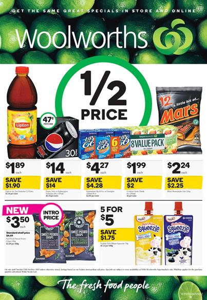 Woolworths Specials 9 Oct 2015