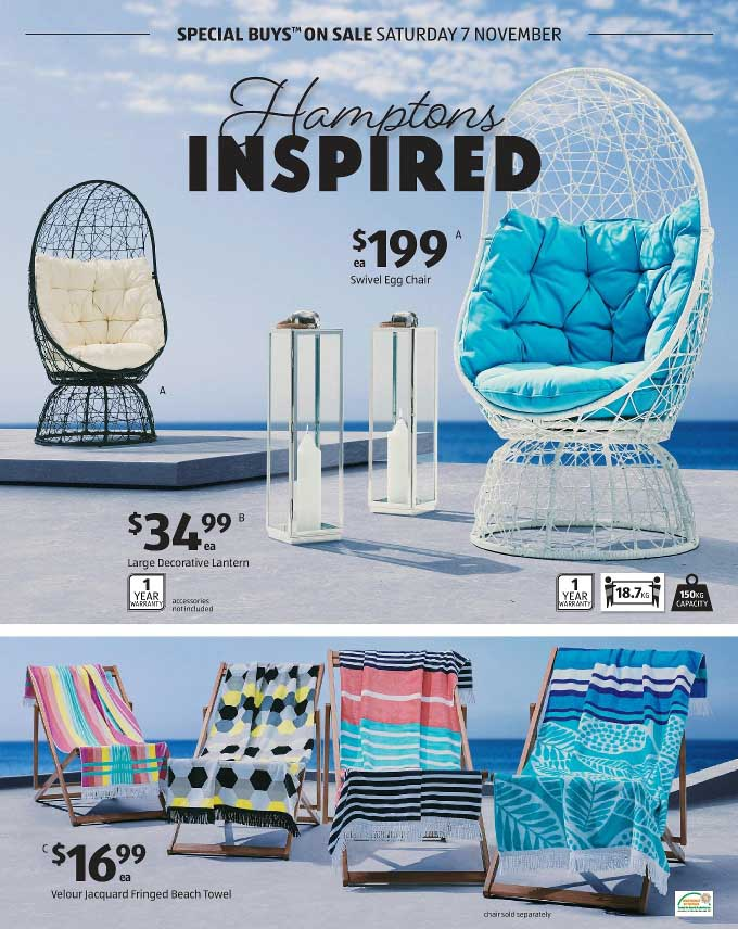 ALDI Catalogue Hamptons Inspired Furniture 7 Nov -2015