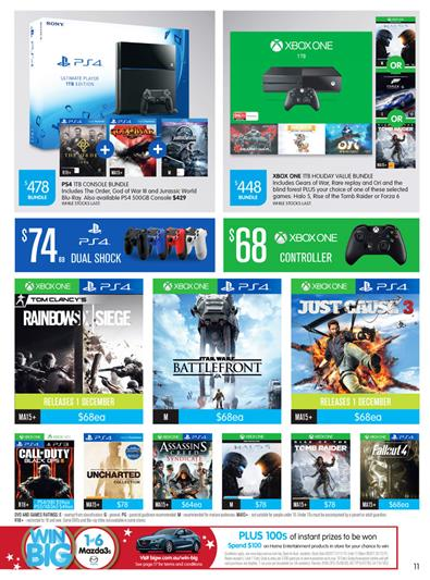 Big W Gaming Consoles Christmas 2015