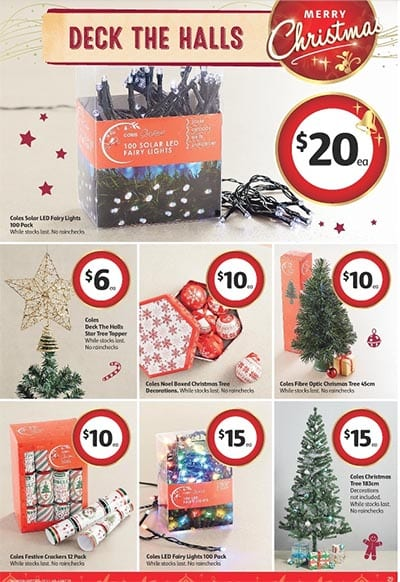 Coles catalogue christmas decoration nov 25 1 dec 2015 for Catalogue deco