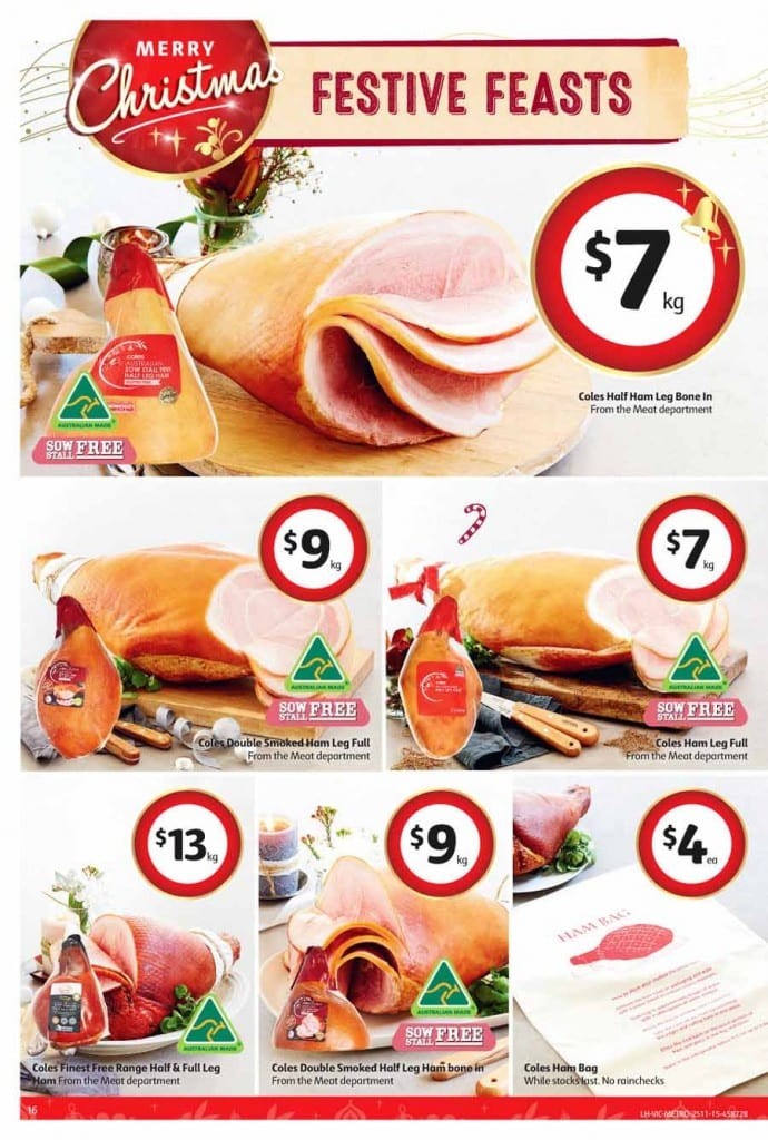Coles Catalogue Christmas Feasts 25 - 1 Dec 2015