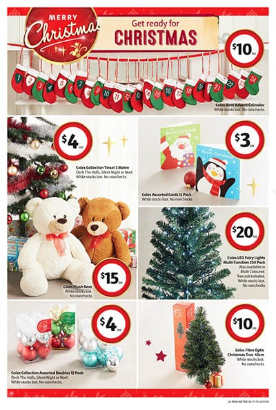coles catalogue christmas specials 4 10 nov 2015 - Coles Christmas Decorations