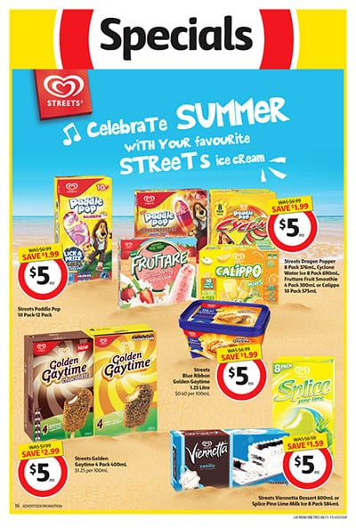 Coles Catalogue Ice Cream Specials 4 - 10 Nov 2015