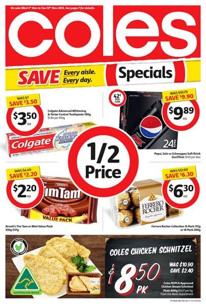 Coles Catalogue Products 4 November 2015