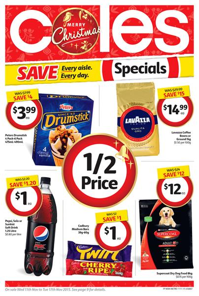 Coles Catalogue Specials Christmas 11 Nov 2015