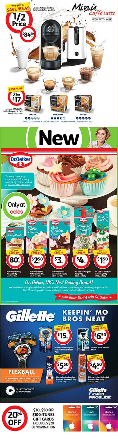 Coles Catalogue Specials 4 Nov