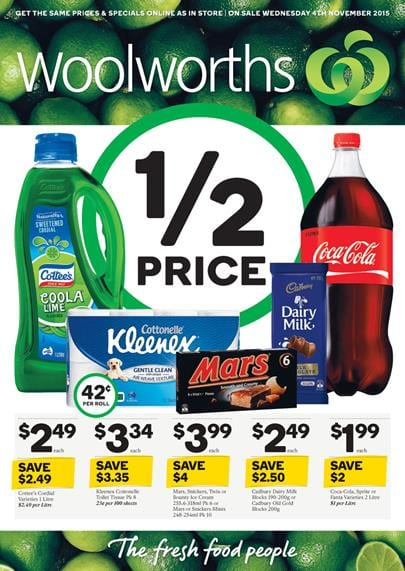 Woolworths Catalogue Products 4 November 2015