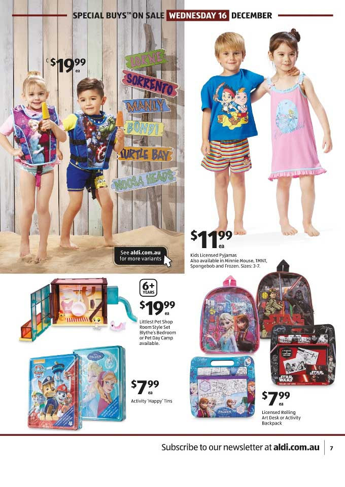 Aldi Special Buys Kids Catalogue 16 22 Dec 2015