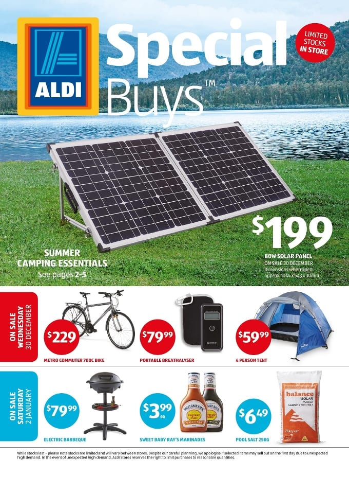 Folding Beds Aldi : Aldi summer specials catalogue jan