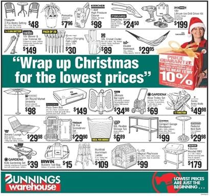 Bunnings Christmas Products 2015