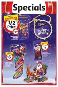 Coles Catalogue Christmas December 2015 Cadbury Favorites