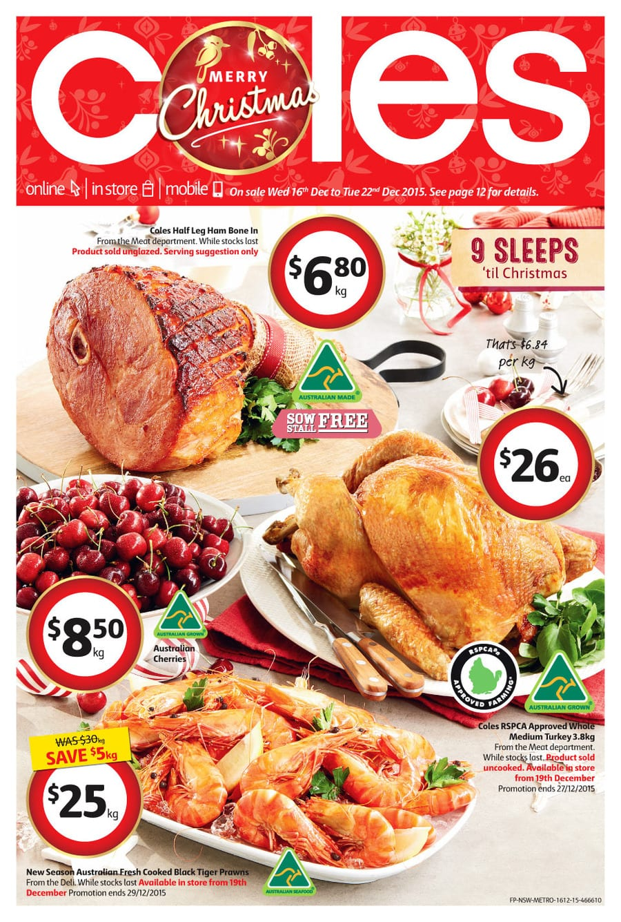coles christmas food catalogue 16 22 dec 2015 - Coles Christmas Decorations
