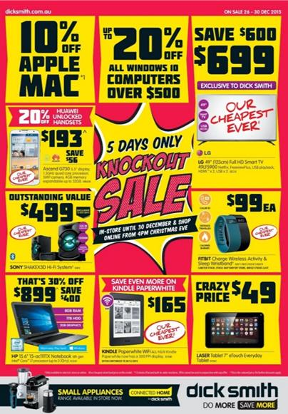 Dick Smith Boxing Day 2015