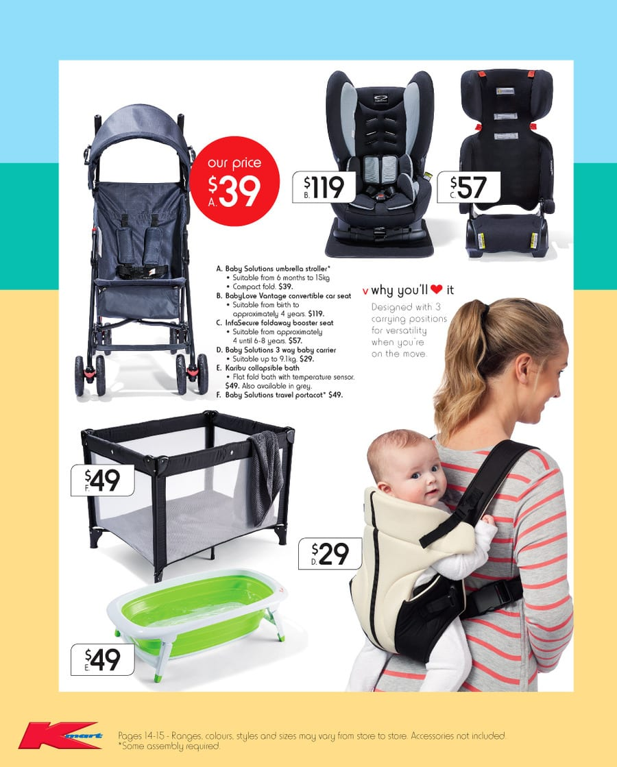 Kmart boxing day sale catalogue 26 6 jan 2016 for Big w portacot