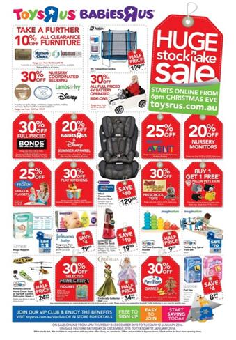 Toys R US Boxing Day 2015