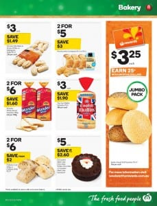 Woolworths Bakery Sale Cataloge 23 - 29 Dec 2015