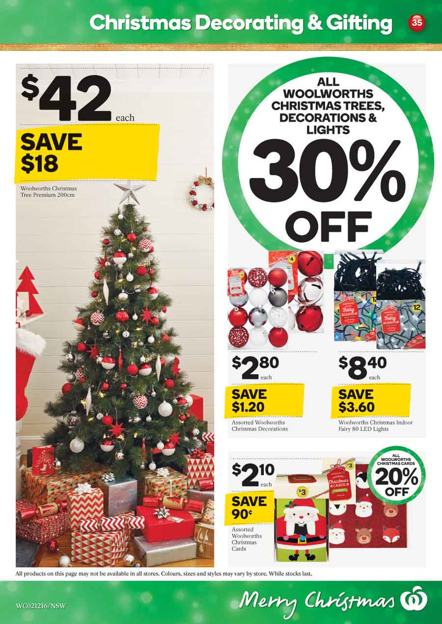 woolworths christmas decoration catalogue 2 8 dec 2015 - Coles Christmas Decorations