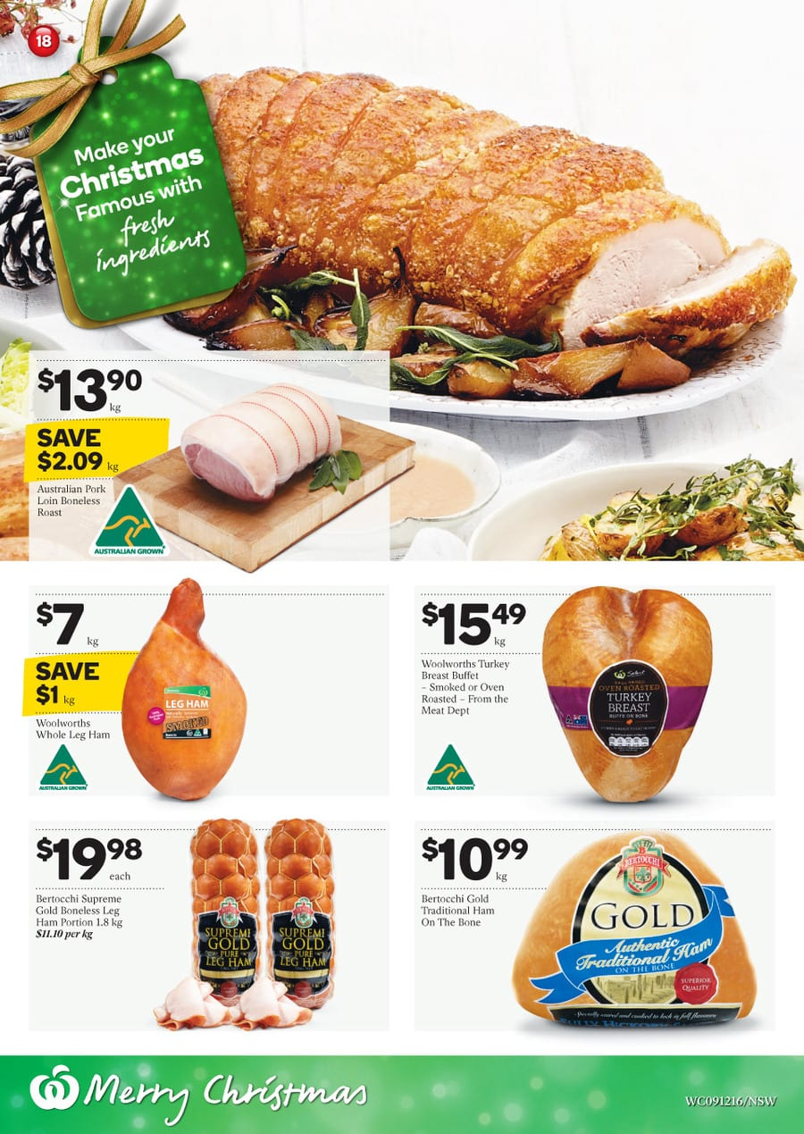 Woolworths christmas dinner catalogue 9 15 dec 2015 forumfinder Gallery