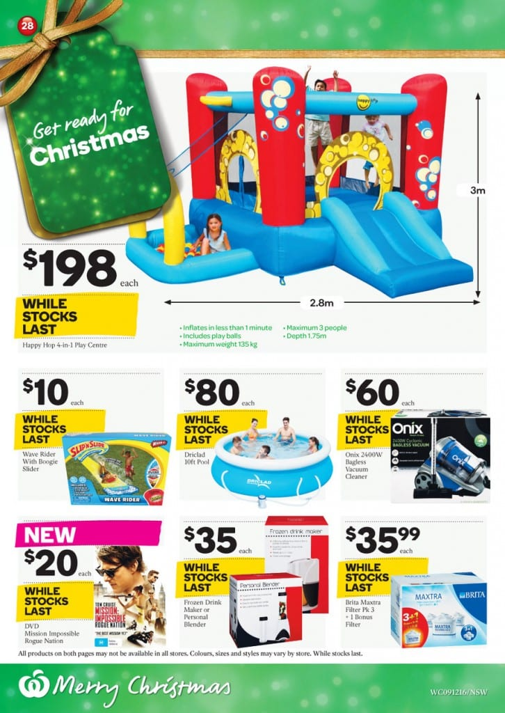 Woolworths Christmas Specials Catalogue 9 - 15 Dec 2015