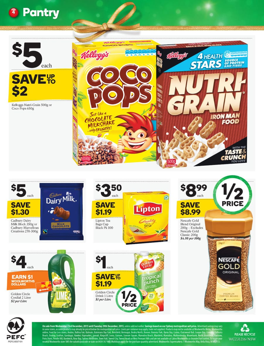 Woolworths Healthy Foods Catalogue 23 29 Dec 2015